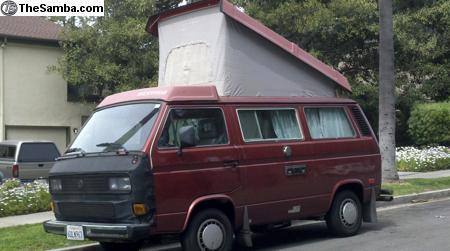 1987 Westfalia Full Camper With Only 76k Original Miles For Sale - $27k