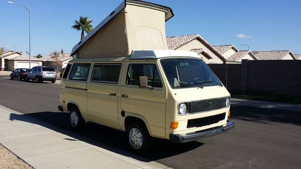 Yellow 1984 Westy Camper In Peoria, AZ For $9,900 - Only 138k Miles