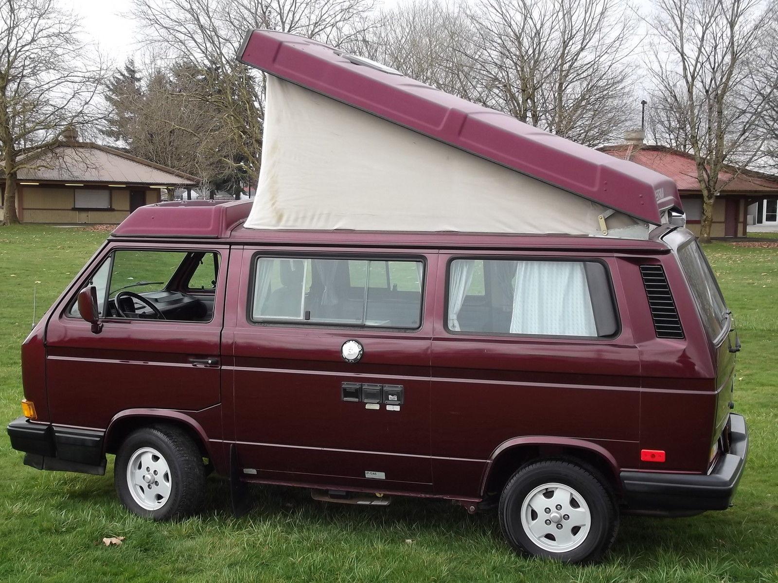 Red 1991 VW Vanagon Westfalia Camper w/ 2.5L GoWesty Motor, Manual Transmission, Lots Of Extras - Auction Ends 3/22