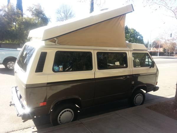 Two Tone 1985 VW Vanagon Westfalia Weekender w/ Only 100k Miles - $19,500 in SF