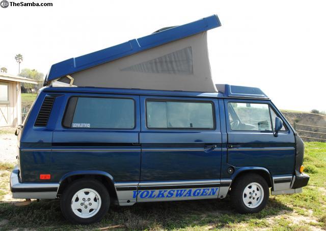 Blue 1990 VW Vanagon Westfalia Weekender w/ 10k On 2.1L Motor - $16,750 in Camarillo, CA