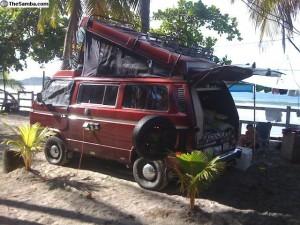 Red 1987 VW Vanagon Westfalia Syncro w/ 1.8L Jetta Motor For $17k in Panama
