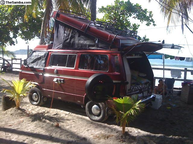 red 1987 vw vanagon westy syncro 17k in panama