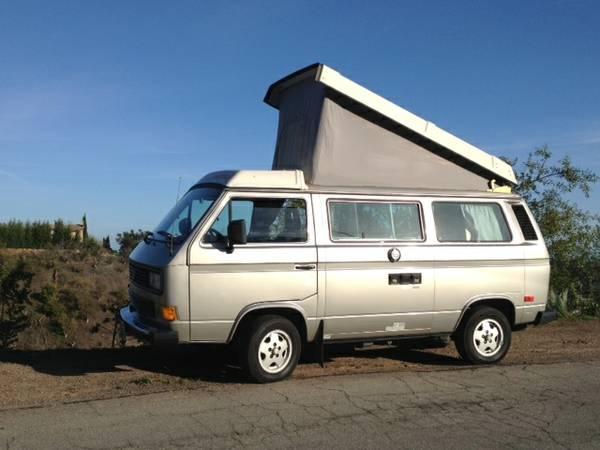 Silver 1987 VW Vanagon Westfalia Camper w/ 147k Miles - $15k in Santa Barbara