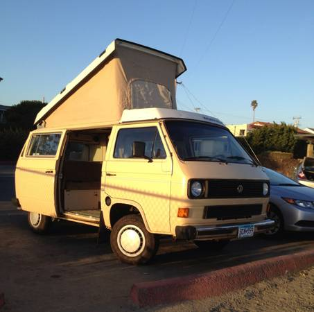Yellow 1985 VW Vanagon Westfalia w/ 155k miles - $12,950 in Santa Cruz, CA
