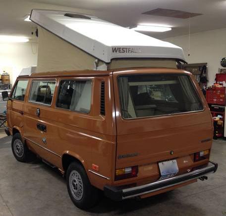 Orange 1984 VW Vanagon Westfalia Camper w/ Manual Trans & 88k Miles - $15,500 in Spokane, WA