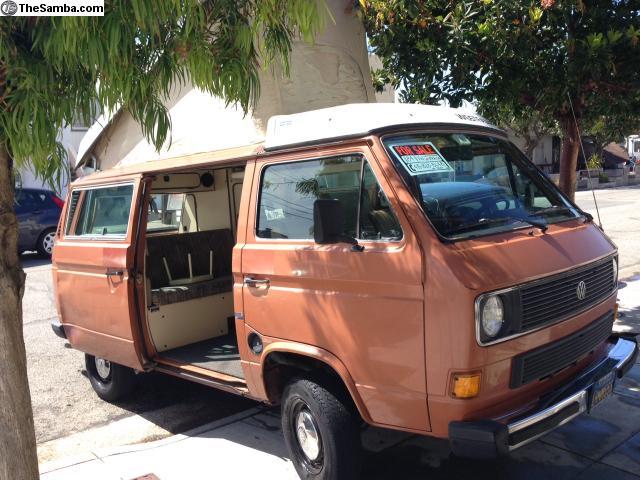 1984 VW Vanagon Westfalia Camper w/ 185k Miles & Manual Transmission - $7,000 in Oakland, CA