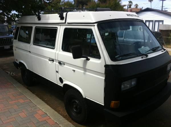1986 VW Vanagon Westfalia Camper - $14,500 in San Diego, CA