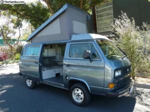 Blue 1987 VW Vanagon Westfalia Camper $10,900 in LA
