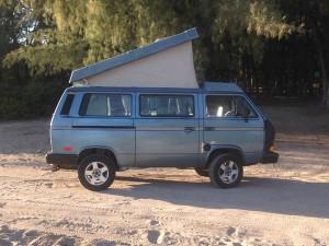 Blue 1989 VW Vanagon Westfalia Camper w/ 2.0L Tiico Conversion - $10,800 in Honolulu