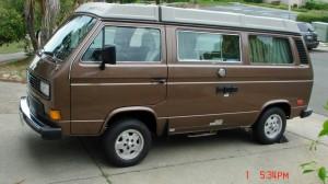 Brown 1986 VW Vanagon Westfalia Camper w/ 124k Miles - Auction in Benecia, CA ends 5/10/14