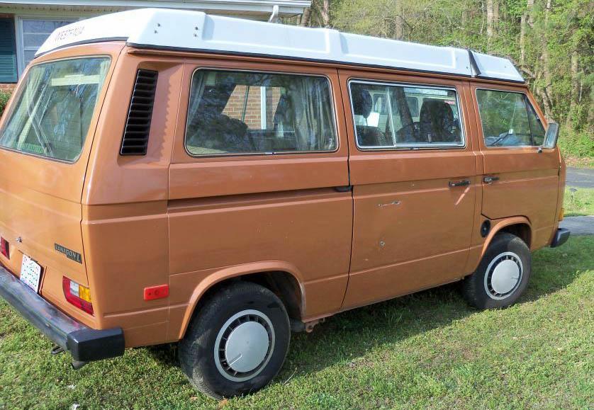 Orange 1982 VW Vanagon Westfalia Camper Diesel With 10k Original Miles - Auction In Rocky Mount, North Carolina