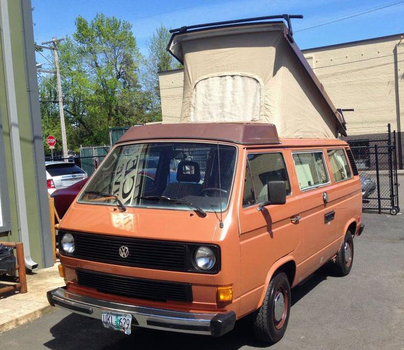 Orange 1984 VW Vanagon Westfalia Camper w/ 2.0 Jetta Engine - Au
