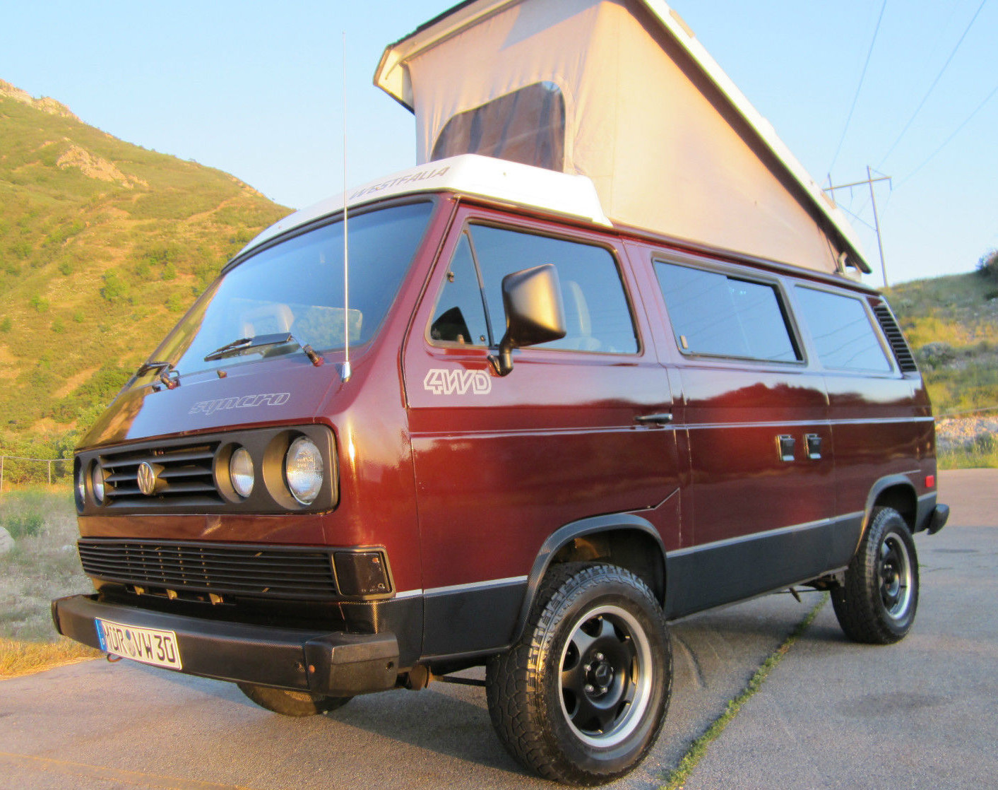 1991 vw vanagon syncro westfalia weekender auction in provo ut. Black Bedroom Furniture Sets. Home Design Ideas