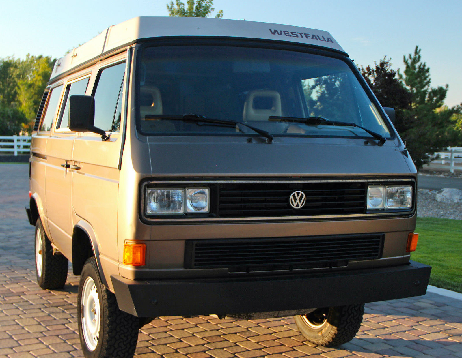 1986 Vw Vanagon Syncro Westfalia Camper W 14k On Engine