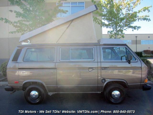 1986 VW Vanagon Westfalia Camper Auction in Bellevue, WA