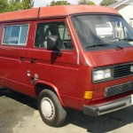 1987 vw Vanagon westfalia camper red santa rosa 16k 3