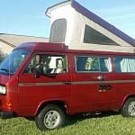 1987 vw Vanagon westfalia Camper red cocoa beach 13k