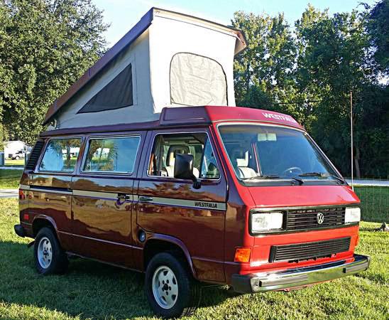 1987 vw vanagon westfalia camper 12 900 in cocoa beach florida. Black Bedroom Furniture Sets. Home Design Ideas