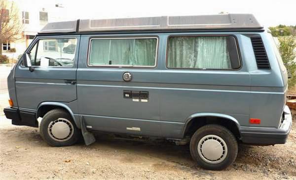 1989 vw vanagon westfalia camper blue csp co 10k