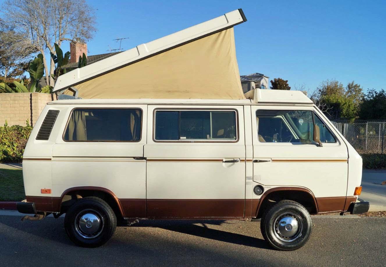 1985 vw vanagon westfalia camper auction in santa monica ca. Black Bedroom Furniture Sets. Home Design Ideas