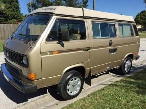 1985 VW Vanagon Westfalia Camper Auction in St. Petersburg, Flor