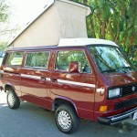 1987vw Vanagon westfalia syncro camper red auction los angeles 2