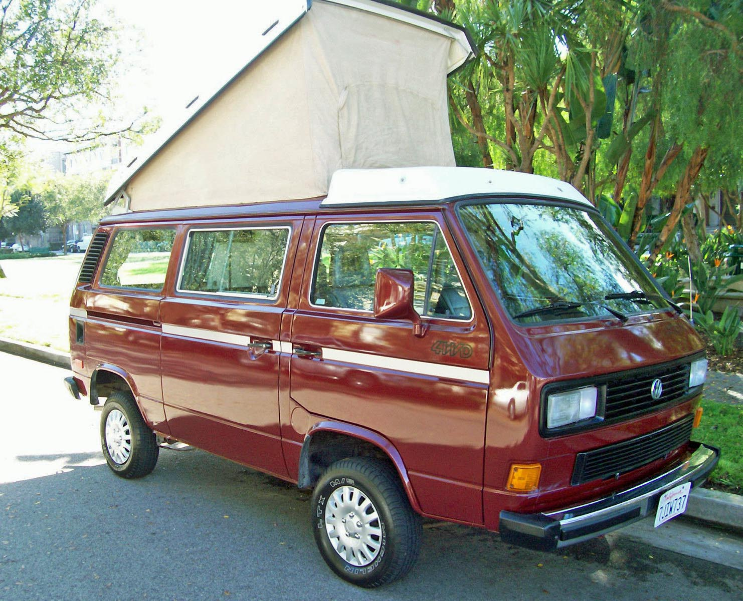 1987 vw vanagon syncro westfalia camper auction in los angeles. Black Bedroom Furniture Sets. Home Design Ideas