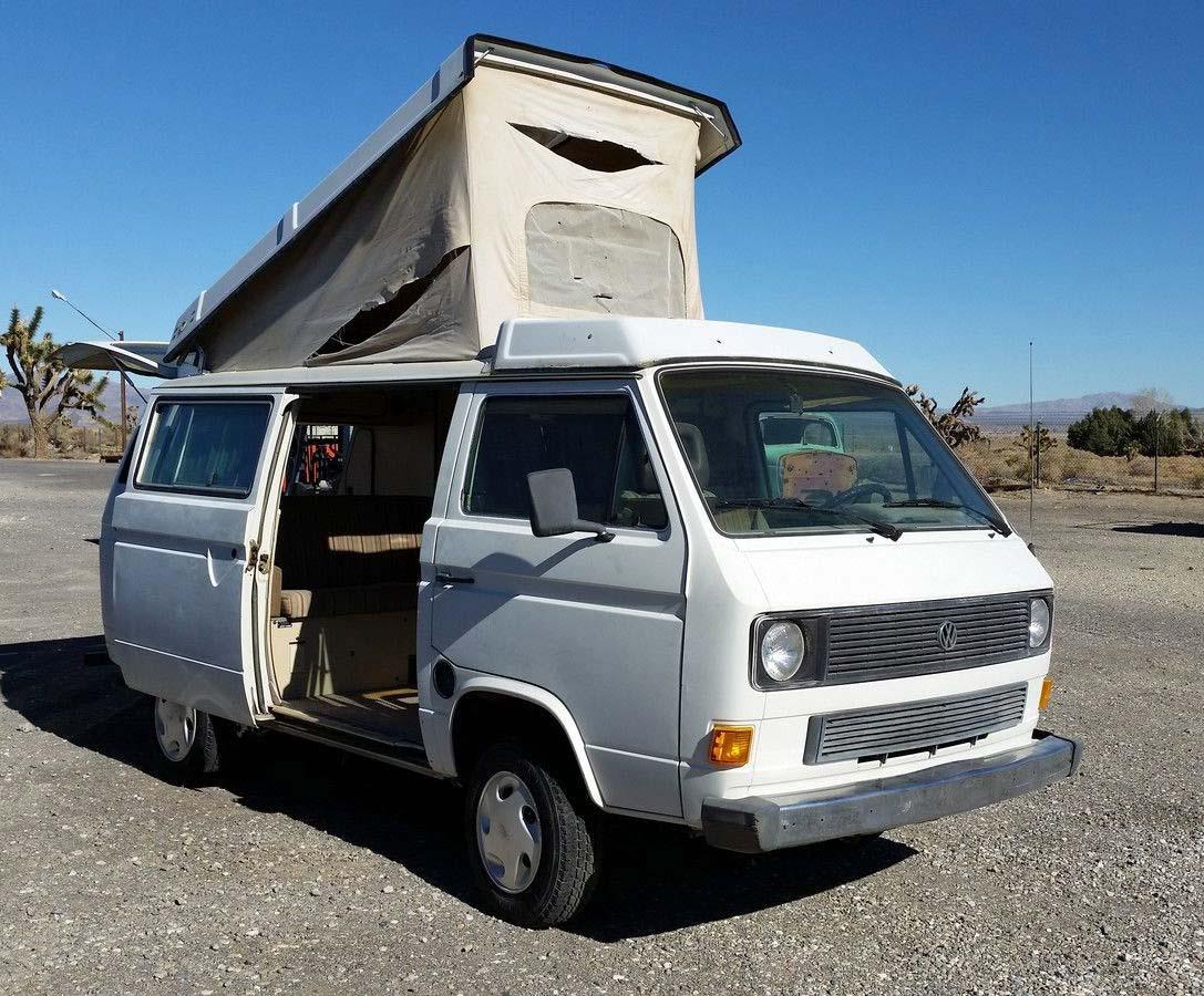 1984 vw vanagon westfalia camper auction in lucerne valley ca. Black Bedroom Furniture Sets. Home Design Ideas