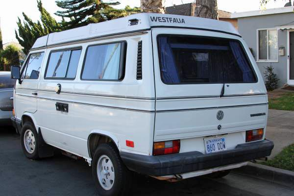 1989 vw vanagon westfalia camper 168k miles 13 500 in santa monica ca. Black Bedroom Furniture Sets. Home Design Ideas