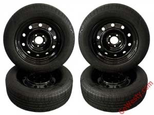 GoWesty 16 inch steel wheels and michelin defender tire package