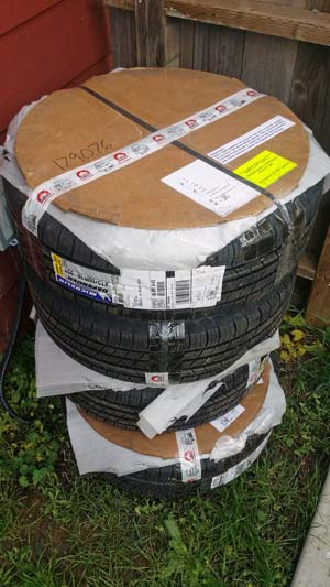 """GoWesty 16"""" Wheel & Tire Package Delivered To Me"""