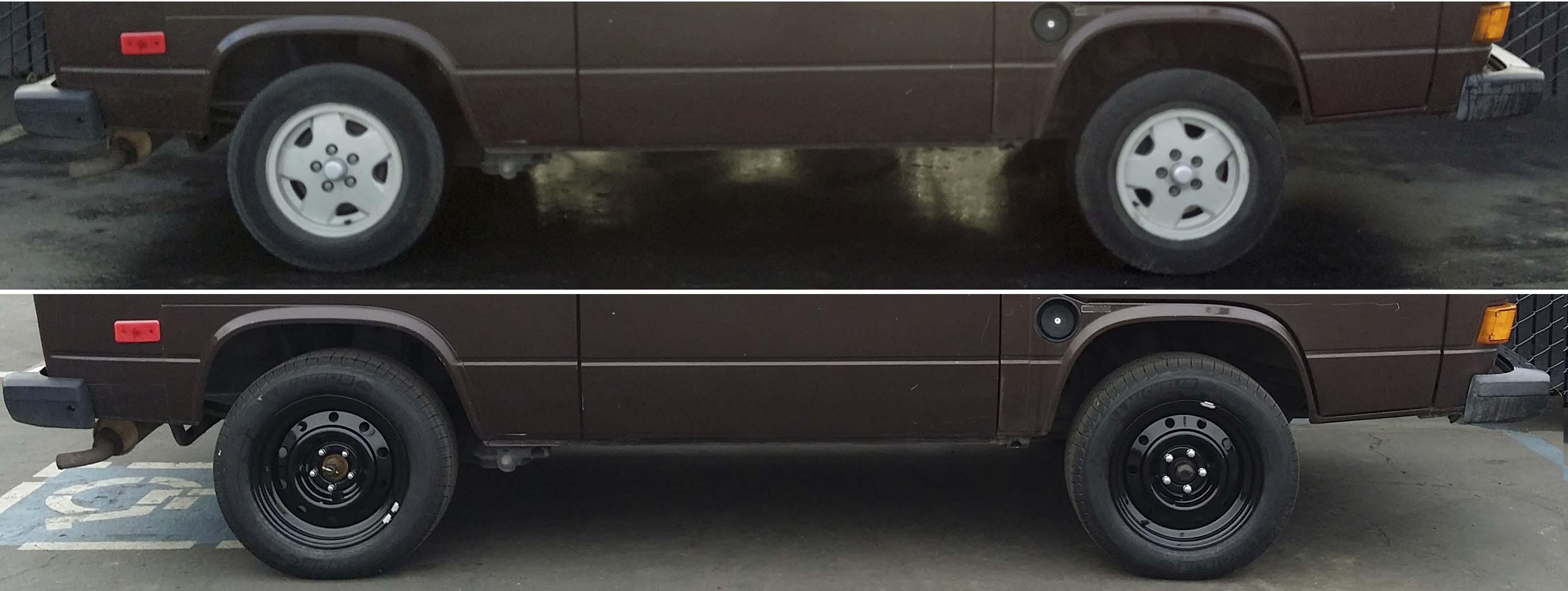 14in vanagon wheels vs 16in vanagon wheels