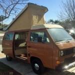 1982 vw vanagon westfalia camper diesel 27k miles so cal 14k 1
