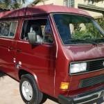 1987 vw vanagon westfalia camper auction brentwood ca red 2