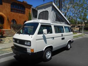 1989 VW Vanagon Westfalia Camper Auction in Huntington Beach, CA