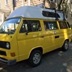 1982 vw vanagon westfalia high top turbo diesel yellow auction mass