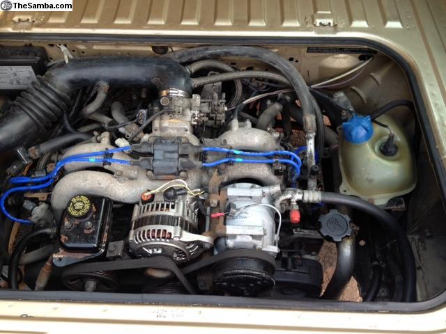 1986 Vw Vanagon Westfalia Weekender Orange Subaru Ej22 Engine 25k