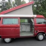 1989 VW Vanagon Westfalia Camper Red Manual 102k miles Auction in Seattle, WA - wv2zb0256kh035531