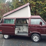 1990 vw vanaon westfalia camper burgundy automatic seattle WV2ZB0254LH002402 auction