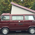 1990 vw vanaon westfalia camper burgundy automatic seattle WV2ZB0254LH002402 auction 2