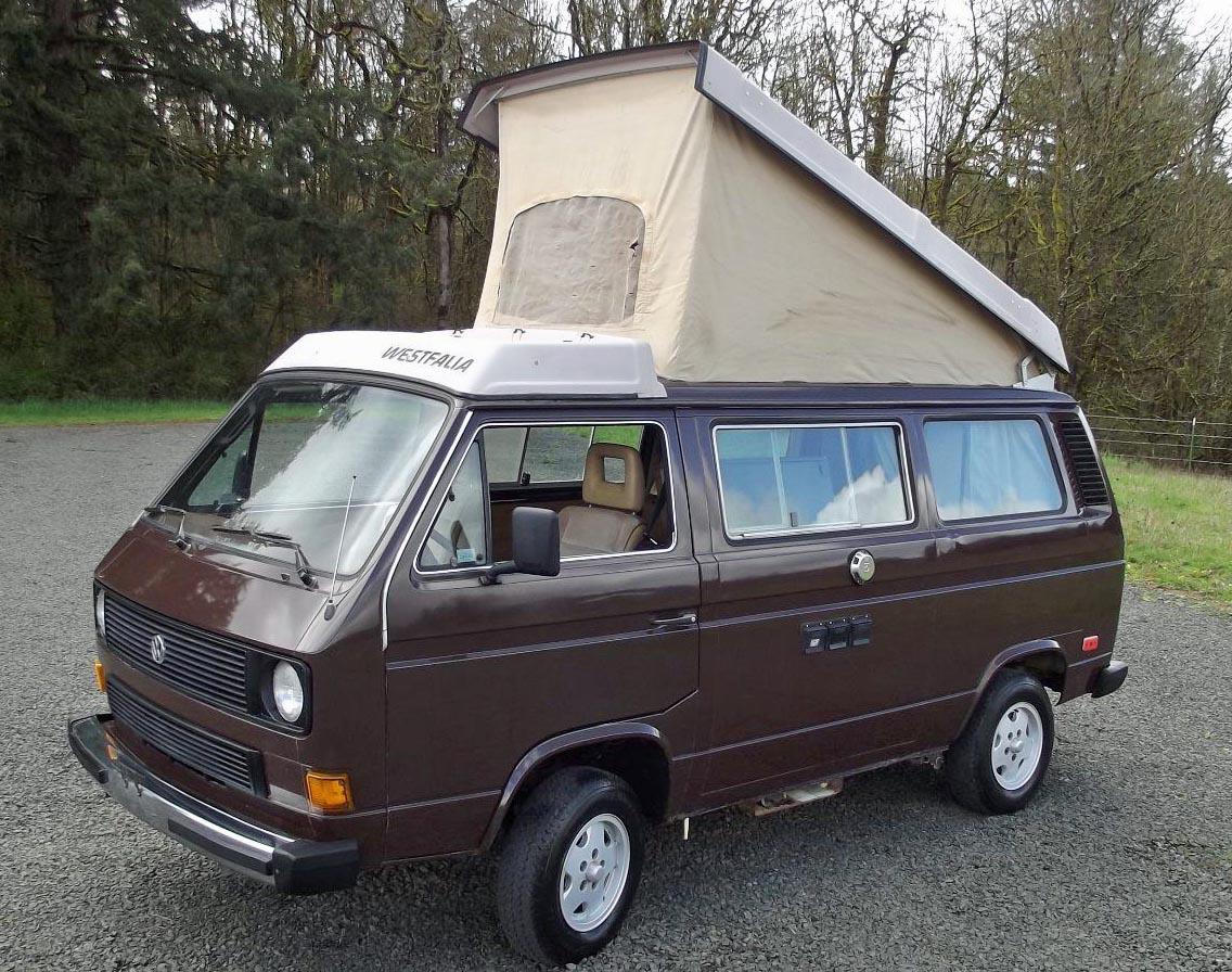 1985 vw vanagon westfalia camper wv2zb0259fh042723 65k miles auction longview or