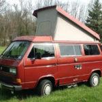 1987 vw vanagon westfalia camper 23k miles WV2ZB0256HH070028 red auction new jersey 2