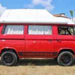 1991 vw vanagon sycro westalia red hightop eu florida auction WV2ZZZ25ZMG015155