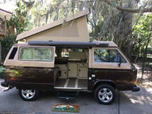 1984 vw vanagon westfalia camper brown tan orlando wv2zb0256eh073894 a