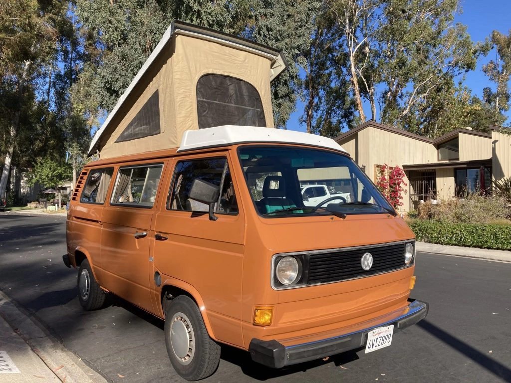 1980 Volkswagen Vanagon Westfalia pop top camper