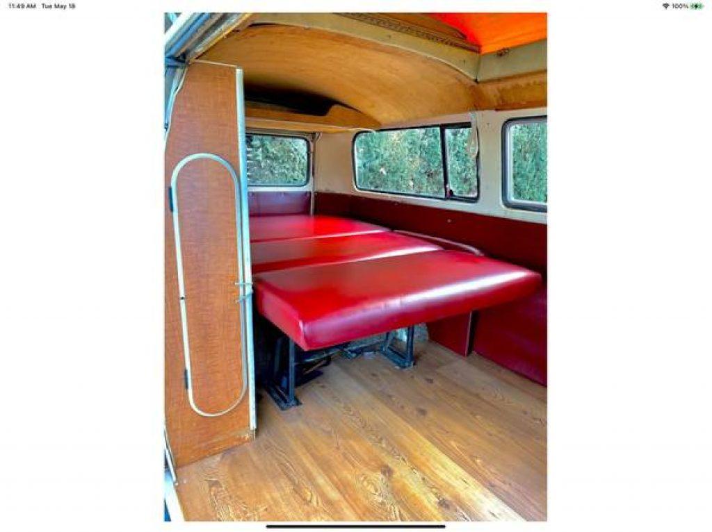 1971 VW Riviera Camper Pop Top Rear Bed