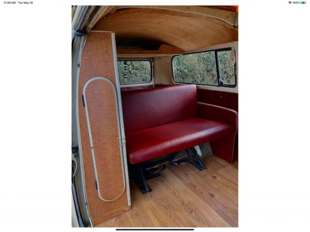 1971 VW Riviera Camper Pop Top Rear Bench